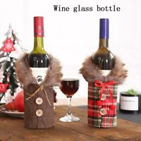 Santa Claus Wine Bottle Cover Gift Bag Christmas Dinner Party Xmas Table Decor H
