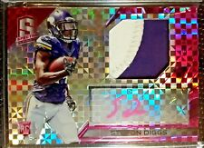 Stefon Diggs 2015 Panini Spectra Rookie Pink Prizm Autograph Auto Patch 2/10 RC