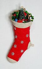 "Nib Amusements Musical 11"" Tall Christmas Stocking Rotating Train Plays 8 Songs!"