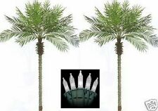 2 Artificial 8' Phoenix Palm Tree Pool Patio Deck Christmas Light Date Sago Coco