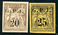 GUADELOUPE 1884 Yvert 1-2 * TADELLOS schöne MARKEN 155€(D7553