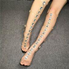 Knee High Women Gladiator Thong Sandals Belt Strappy Bohemian Rhinestone Club US