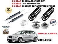 Per BMW E87 1 Serie 2006-2012 2x Set Ammortizzatori Posteriori + Molle +