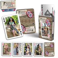 2021 Tactical Girls Calendar Playing Cards Airsoft Hunter Soldier USMC Gift