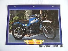 CARTE FICHE MOTO YAMAHA DT 400 MX 1977