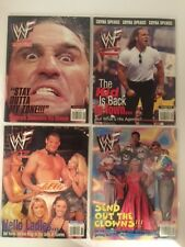 Lot of 4 WWF Magazine 1998 Sep Oct Nov Dec Shamrock Michaels Val Venis Clown WWE