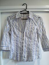 3/4 sleeve collared shirt, Jacqui E, Size 10