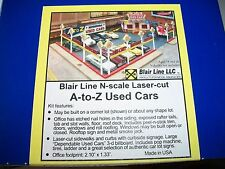 Blair Line N Scale Laser Kit A-to-Z Used car Lot  #097 Bob The Train Guy