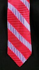 Michael Kors MK Tie Red Striped Wide Silk USA Vintage Thick NWOT New