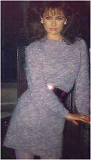 Ladies' Mohair Pearl Embellished Sweater Dress Vintage Knitting Pattern