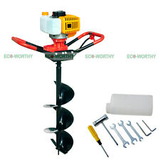 "ECO 2.2 HP Gas Powered Post Hole Digger W/ 4"" Auger Drill Bit 52CC Power Engine"