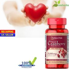 CRANBERRY EXTRACT 25000mg ANTIOXIDANT URINARY TRACT HEART HEALTH SUPPLEMENT 30ct