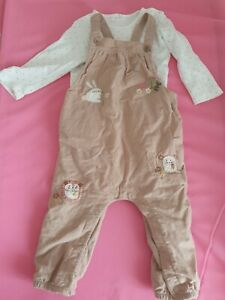 Next Baby Girl Dungaree Set