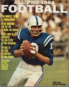 1964 All Pro Football magazine, Johnny Unitas, Baltimore Colts ~ Good