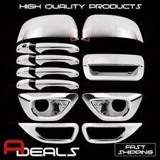 Chrome Covers 14-15 Jeep Grand Cherokee Mirror Door handle Tailgate Fog Lamps