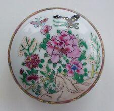 Dose China Porzellan Famille rose Kanton caddy box porcelain mark