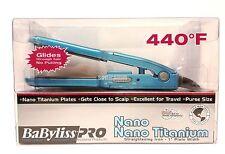 BaByliss PRO Nano Titanium Mini Straightening Iron (1 inch)  Travel Pulse Size