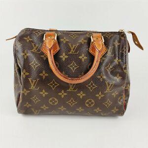 Louis Vuitton Monogram Speedy 25 Satchel Tote Handbag
