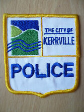 Patches: THE CITY OF KERRVILLE POLICE PATCH (New,approx. 3.8x3)