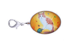 Cat Zipper Pull Charm, Bag Lobster Claw Clasp - Yes, Sal Really Does Paint!