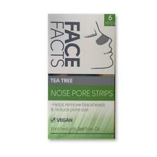 Face Facts Nose Pore Strips Blackhead Removal Tea Tree Cleansing Unclog Pores