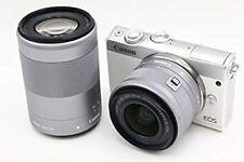 Canon Mirrorless interchangeable-lens camera EOS M100 Double Zoom Kit White EOS