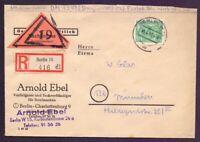 Berlin - Schöne Einzelfrankatur 90Pf. Bauten - MiNr. 56 - Michel 75,00 € (509)