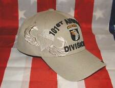101st Airborne New Beige Military Licensed Fully 3D Embroidered Ball Cap/Hat.