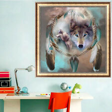 DIY 5D Diamond Wolf Totem Resin Embroidery Painting Cross Stitch Kit Home Decor