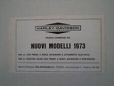 advertising Pubblicità 1973 HARLEY DAVIDSON
