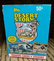Desert Storm Coalition For Peace Topps Collectible Vintage Trading Card Pack Box