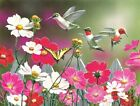 Cosmos And Hummingbirds 500 Pc Jigsaw Puzzle For Sale