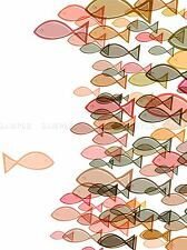 SHOAL FISH SWIMMING PHOTO ART PRINT POSTER PICTURE BMP1449A
