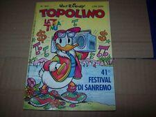 TOPOLINO LIBRETTO N.1840-WALT DISNEY COMPANY ITALIA-3 MARZO 1991 41°FESTIVAL