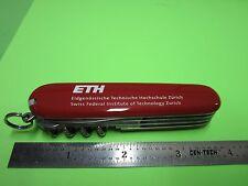 PROMO ETH SWISS INSTITUTE TECHNOLOGY ZURICH SWISS ARMY KNIFE   BIN#37