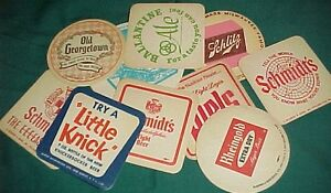 OLD Rare Vintage ~USA BEER COASTER Collection Coasters Lot ~MATS ~ Mixed NOS