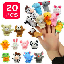 20pcs Cute Animal Finger Puppets Baby Nursery Children Kids Story Time Play Toy