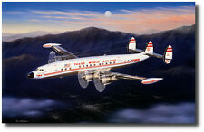 Evening Star by Mike Machat - Lockheed 1049 Connie - Aviation Art