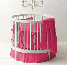 Hotpink,Cradle Unisex Nursery Baby Bedding Cradle Bumper with Piping Solid Pattern 500 TC Egyptian Cotton