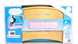 """Thomas Friends Wooden Railway 61/2"""" & 31/2"""" Curved Road Train Track Pack LC99958"""