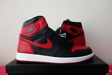 Nike Air Jordan 1 Retro High OG interdit Bred Black Red 555088 001 Blanc cassé Sean