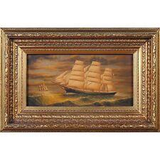 FTN030-SC021-2, Niagara Furniture, Ship Sailing at Night, Oil Painting