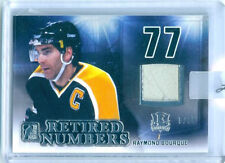 "RAY BOURQUE ""RETIRED NUMBERS GAME USED MEMORABILIA /35"" LEAF ENSHRINED HOCKEY"