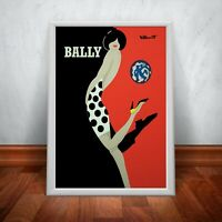 Bally Kick Shoes Red Vintage Wall Art Print. Great Art Decor A3 A2 A1.
