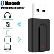 USB Bluetooth 5.0 Audio Receiver Transmitter 3.5mm AUX Jack For TV PC Headphone