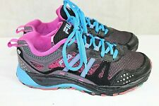 FILA womens athletic running shoes size 7 medium leather/fabric upper multicolor