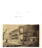 Monaco, Un palais  CDV vintage albumen carte de visite,  Tirage albuminé  6,