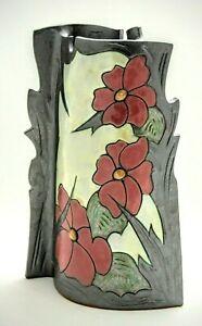 "Ceramic Vase -10"", Unique Vase, Handmade flat design Vase , Art pottery Vase, Ho"