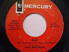 "LOUIS ARMSTRONG  ""MAME""  45 RPM Vinyl  Record music  ""TIN ROOF BLUES""   MERCURY"