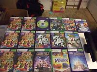 Lot Of 16 random Xbox 360 Kinect Games With Kinect. (Tested) Good Condition